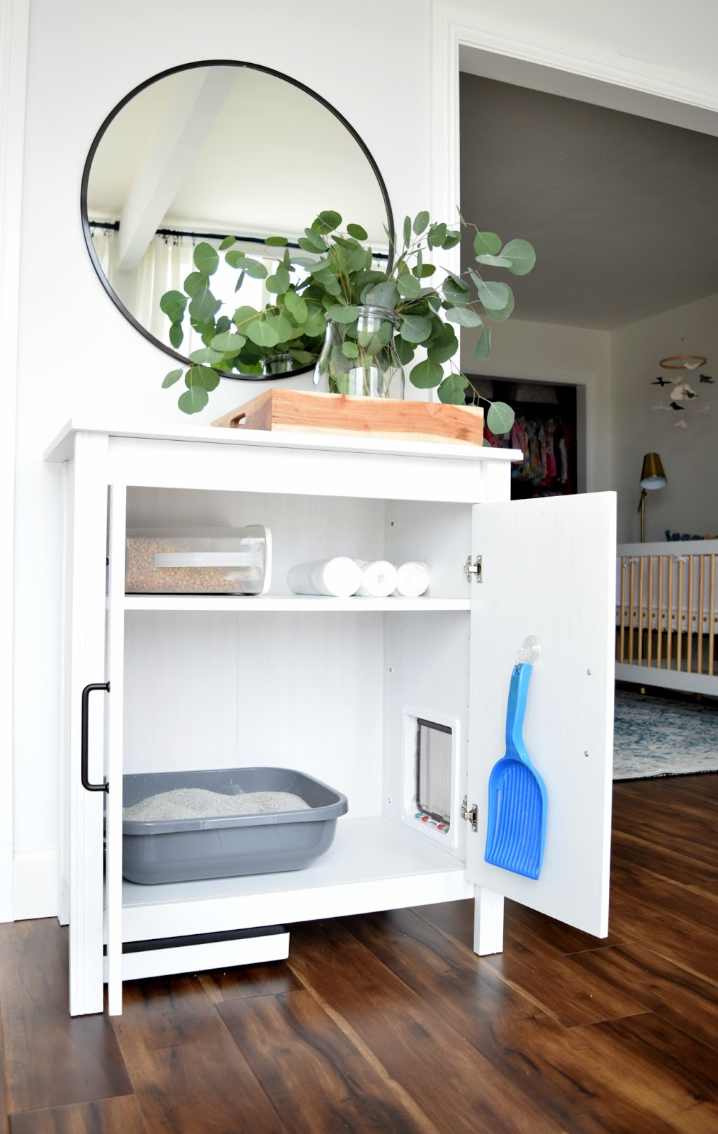 DIYing Our Cat Litter Cabinet Was Super Simple U2013 Just An Extra Large Cat  Door U2013 For Our Extra Large Cat U2013 And This Inexpensive Ikea Cabinet U2013 Or Any  Cabinet ...